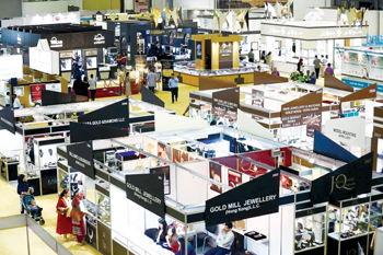 A file photo of the previous MidEast Watch and Jewellery Show