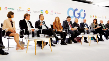 Key energy and climate leaders attending the OGCI meeting