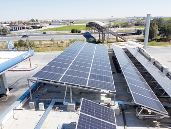 A photovoltaic installation (PV)
