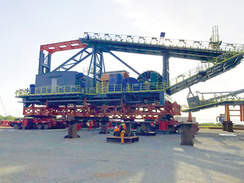 Largest single piece of equipment arrives for EGA's mining project in Guinea