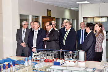 A delgation of Haldor Topsoe of Denmark touring GPIC