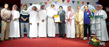 Al-Watania for Industries (WFI) officials at the award ceremony
