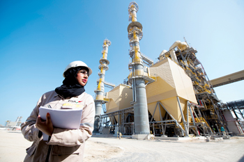 Calcination is the first of the four major sections of Al Taweelah alumina refinery to be ready for production