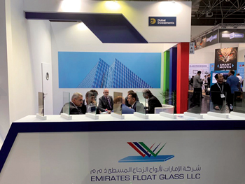 Emirates Float Glass showcases its products at the recently held WFES