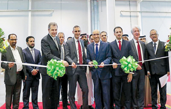 Officials at the opening of Armacell's manufacturing facility in Bahrain