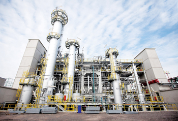 Part of the PA 12 production complex in Marl Chemical Park in Germany