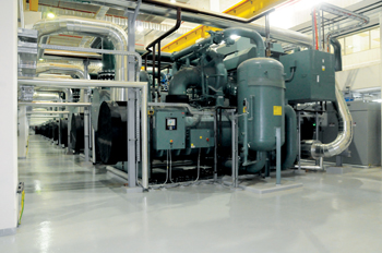 Five YORK Open Multistage (OM) Chillers were designed to be part of the CUP-2