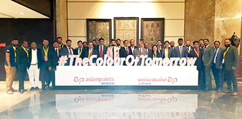 Asian Paints officials at the launch of  its new brand identity in Bahrain