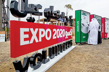 Visitors sign up to volunteer for Expo 2020 Dubai