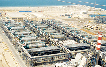 The 900,000 cmd Taweelah desalination plant is the largest in the UAE
