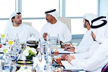 Al Saleh (left) and  Abdulla: encouraging collaboration between the Ministry of Economy and Borouge
