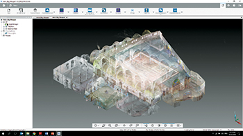 Registered point cloud of the mosque in Scene