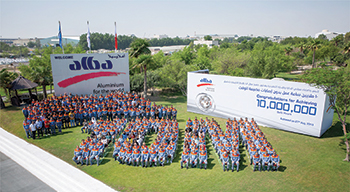 Alba employees  celebrate the completion of 10 million working-hours without any LTI
