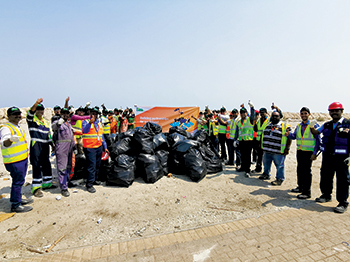 APM Terminals team participating in the `Go Green' initiative