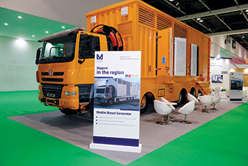 The mobile electric power generators are powered by MTU diesel genset