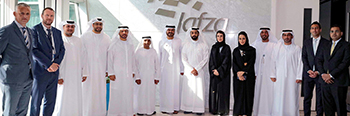 Jafza and DMCC officials after signing the warehousing solutions agreement