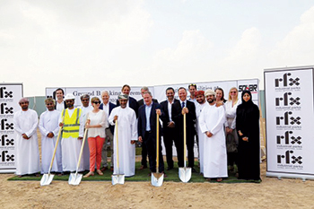 RFX Industrial Parks held a ground-breaking ceremony at Sohar Freezone recently