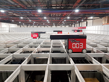 Swisslog delivers its latest robot-based warehouse system in retail and e-commerce for Axiom Telecom