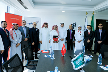 LogiPoint and Aramex officials: new pact