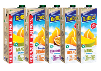 CoolBest juice cartons by brand owner Riedel