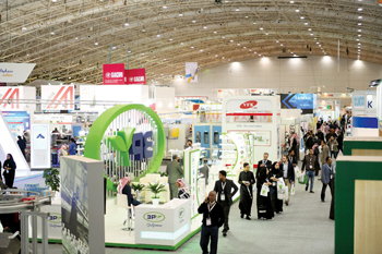 Visitors at the previous edition of the Saudi Plastic and Petrochemical Trade Exhibition