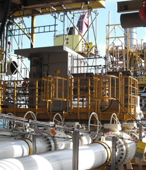 The Intertec GRP shelters installed above the offshore platform's gas export pipelines