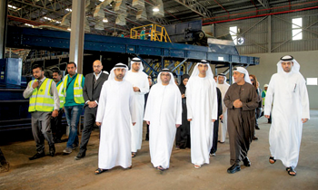 Officials touring the biggest waste recycling plant opened in Ras Al Khaimah