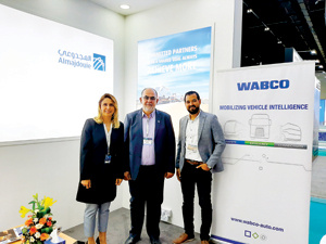 Almajdouie and Wabco team after announcing the deal