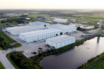 Air Products' Port Manatee LNG heat exchanger manufacturing facility. (Photo: Air Products)