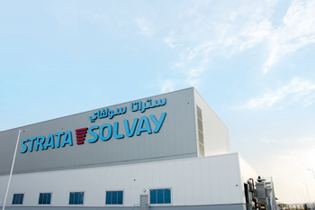 The facility is a joint venture between Strata Manufacturing and Solvay