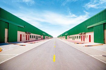 A view of the new warehouses at SAIF Zone