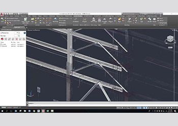Screenshot of as-built fitted beam: laser scanning reduces the need to climb hazardous spaces