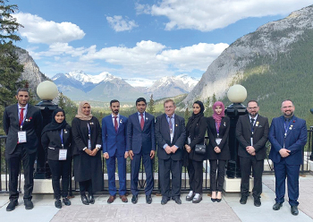 The UAE team poses for a group photograph in Canada